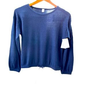 1901 Nordsrtom dark blue knit sweater LRG NWT